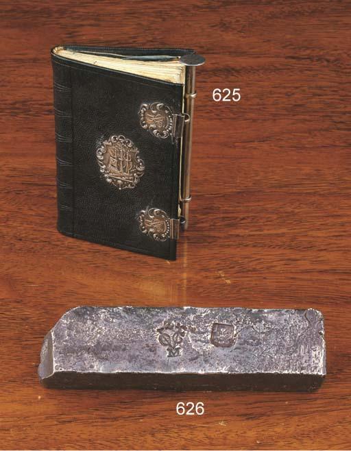 A Dutch notebook bearing silve