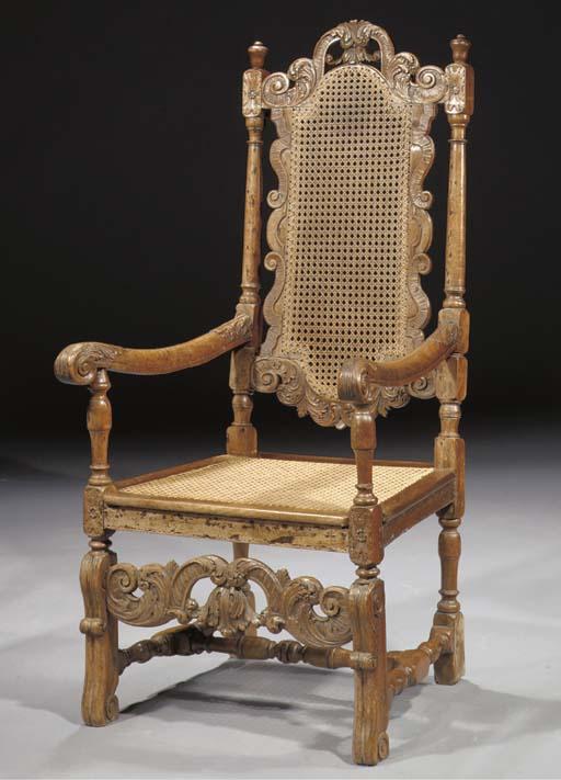 A Dutch Colonial teak armchair