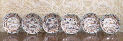 A set of six Chinese Imari dis