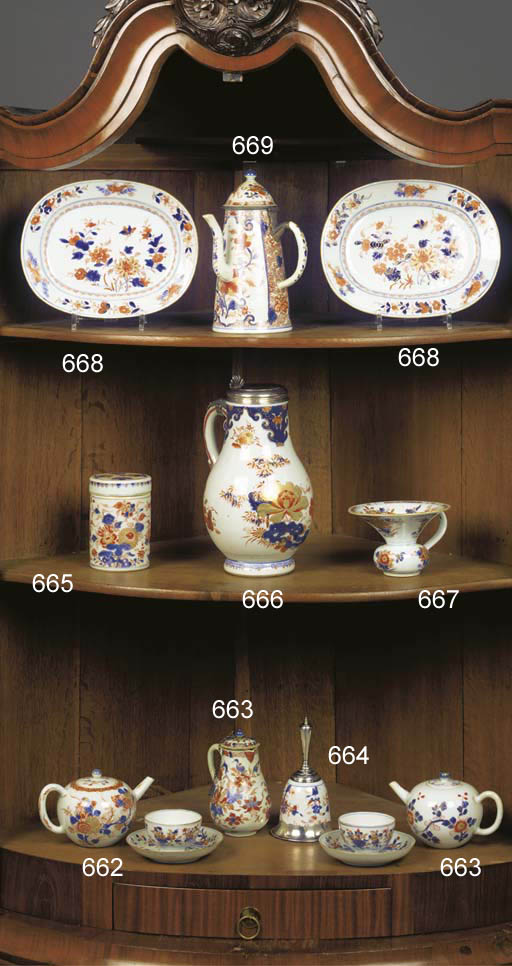 A Chinese Imari cup mounted as