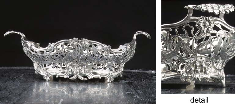 A fine Dutch silver breadbaske