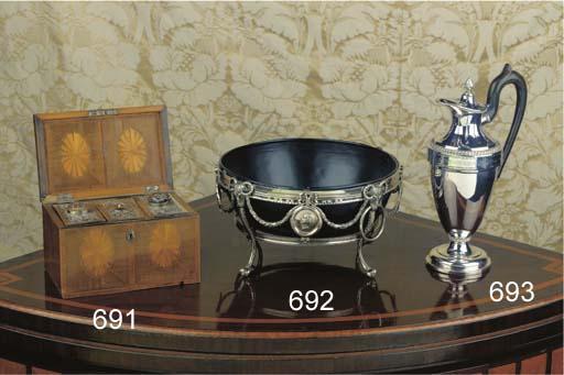 Three Dutch silver teacaddies