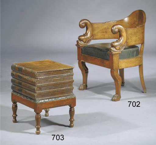 A mahogany fauteuil