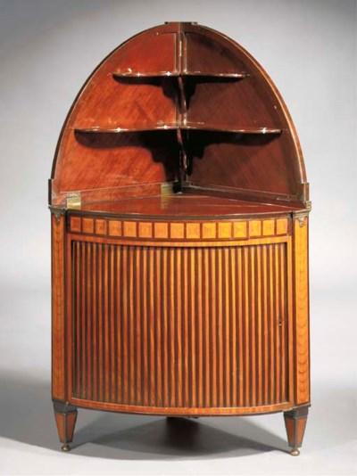 A Dutch mahogany and satinwood