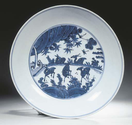 A rare Ming blue and white sau