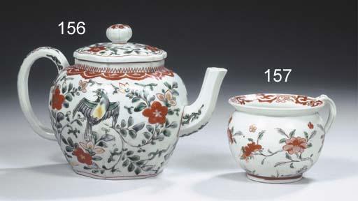 A rare Arita polychrome teapot
