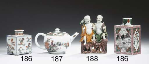 A famille verte globular teapo