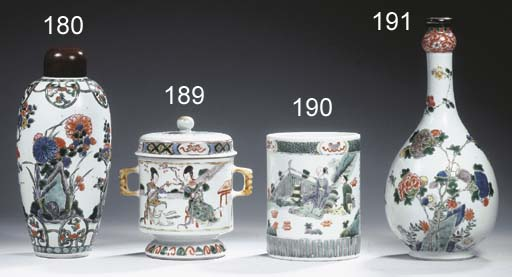 A famille verte silver-mounted