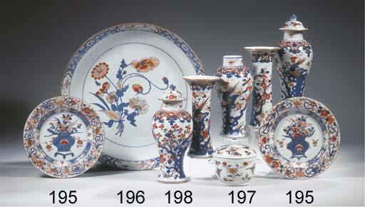 A set of four Imari plates