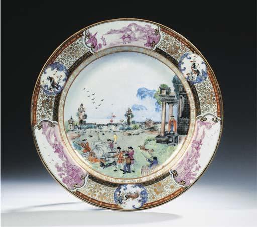 A 'calcutta tiger hunt' plate