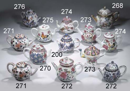 Two Japanese Imari teapots and