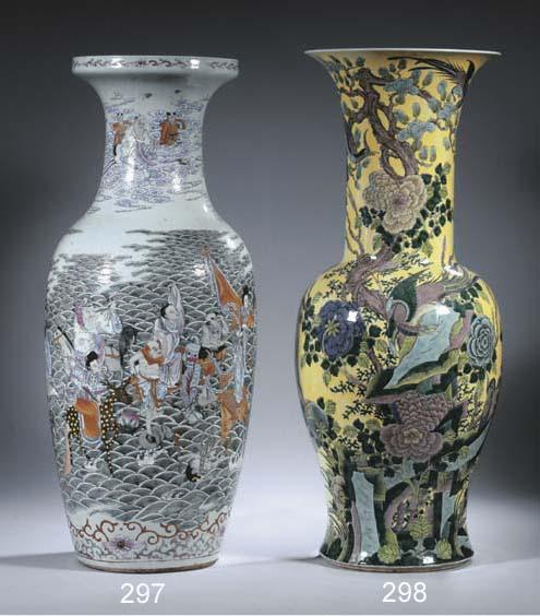 A famille verte yanyan vase