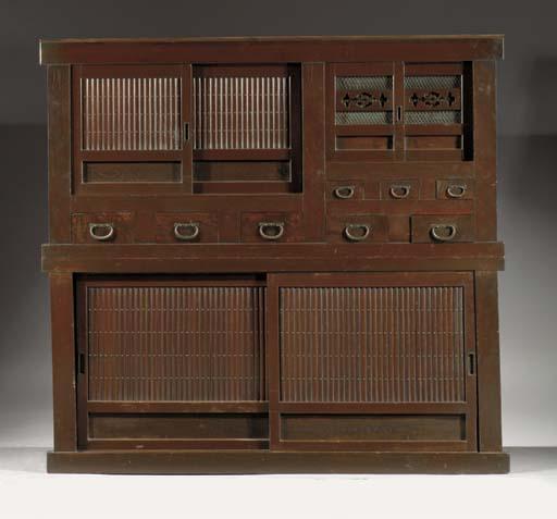 A hinoki wood cabinet Mizuya