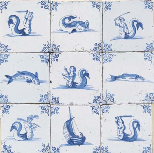 A Dutch blue and white sea cre