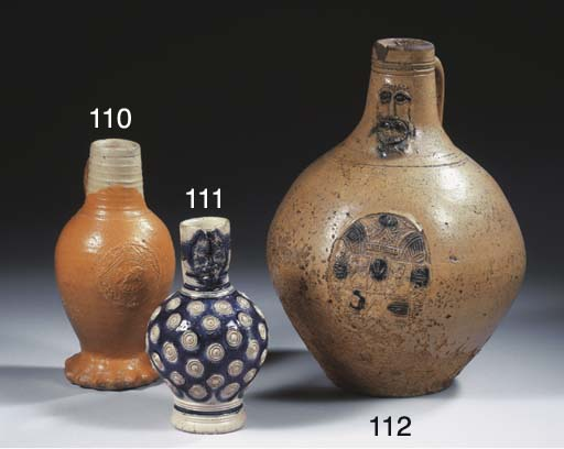 A Raeren stoneware dated rilled Jacoba jug