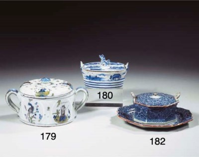 A Dutch Delft blue and white o