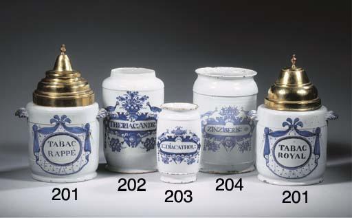 A Dutch Delft blue and white a