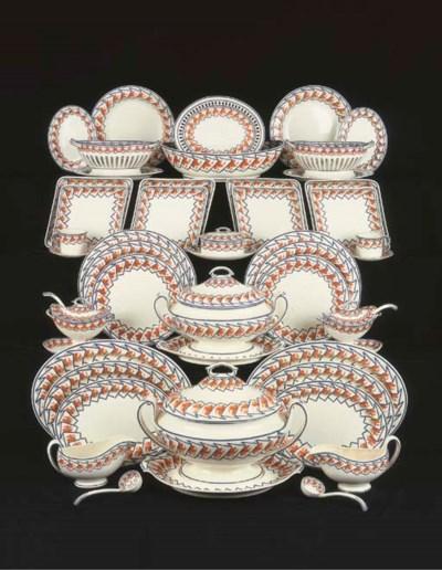 An extensive Spode creamware d