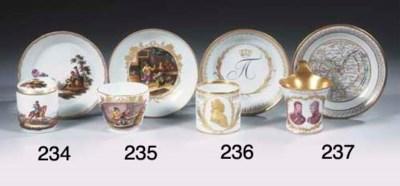 A Meissen porcelain gilt royal