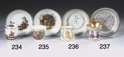 A Berlin KPM porcelain gilt to