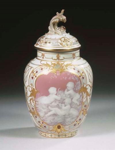 A Berlin KPM porcelain jewelle