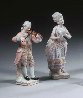 A pair of Berlin porcelain lac