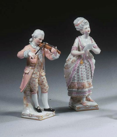 A pair of Berlin porcelain lac