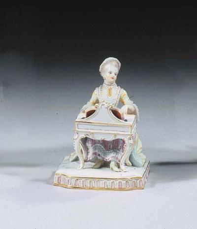 A Meissen porcelain lace group
