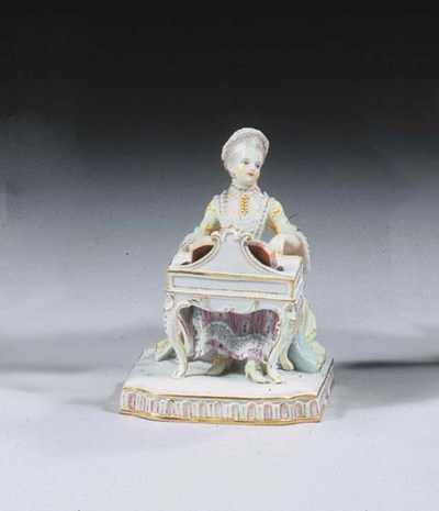 A Meissen porcelain lace group