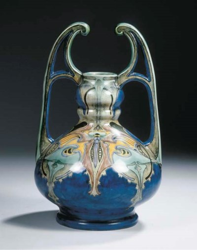 Model 1097, a glazed pottery v