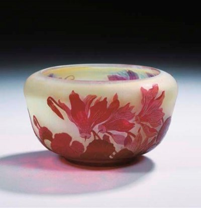 A cameo glass bowl