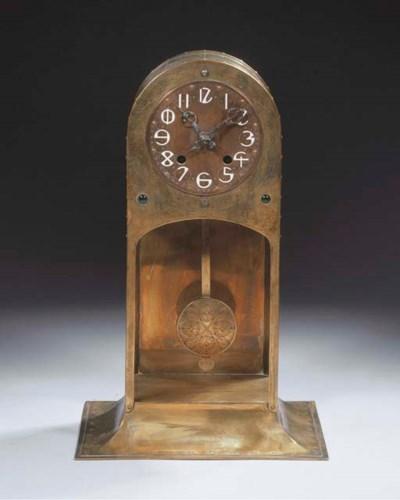 A brass clock