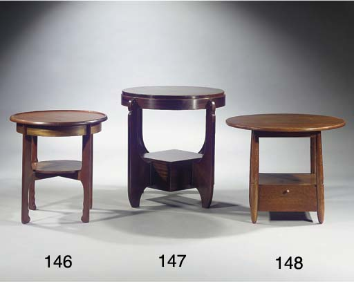 A stained oak centre table