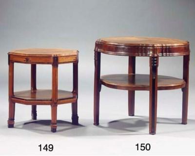 A mahogany and rosewood veneer