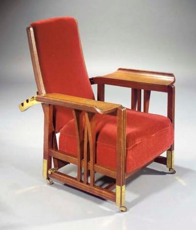 An oak easy chair