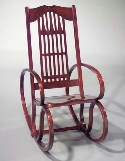 A bentwood rocking chair