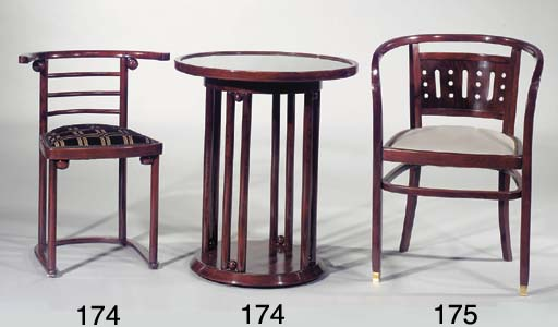 A Fledermaus bentwood table an