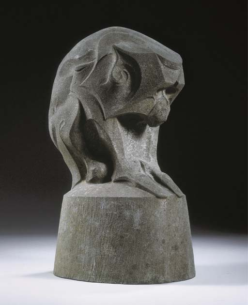 A stone figure of a monkey