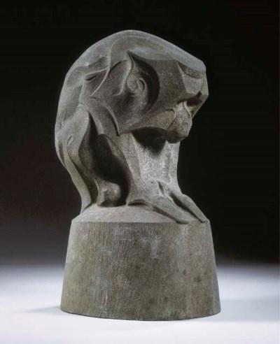 A stone figure of a monkey