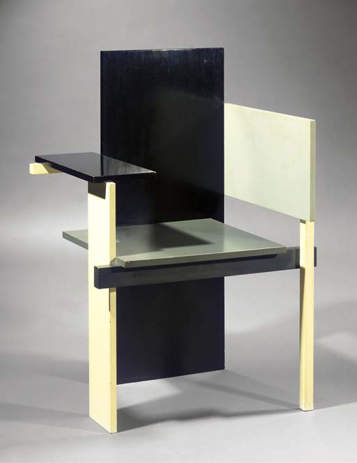 A painted wood Berlin chair
