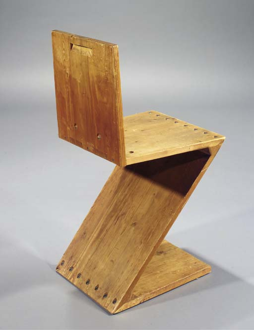 A zigzag chair