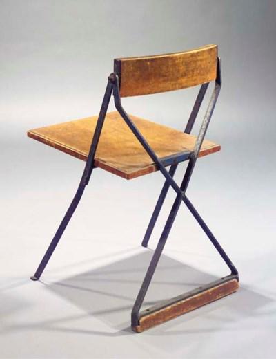 An oak and iron 'lerarenstoel'