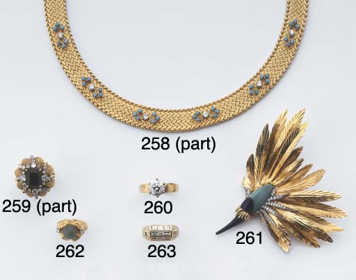 A DIAMOND AND TURQUOISE BIRD B