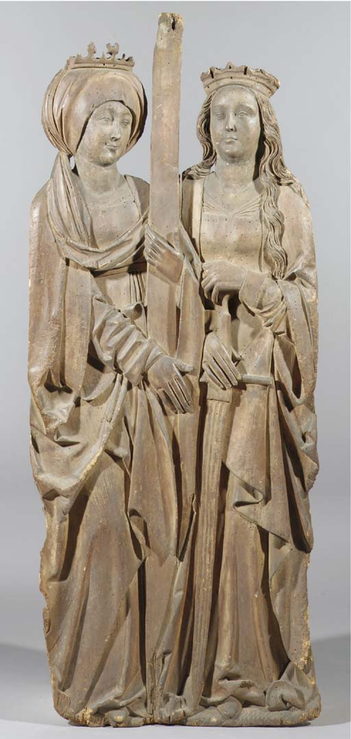 A carved wood ajour relief of