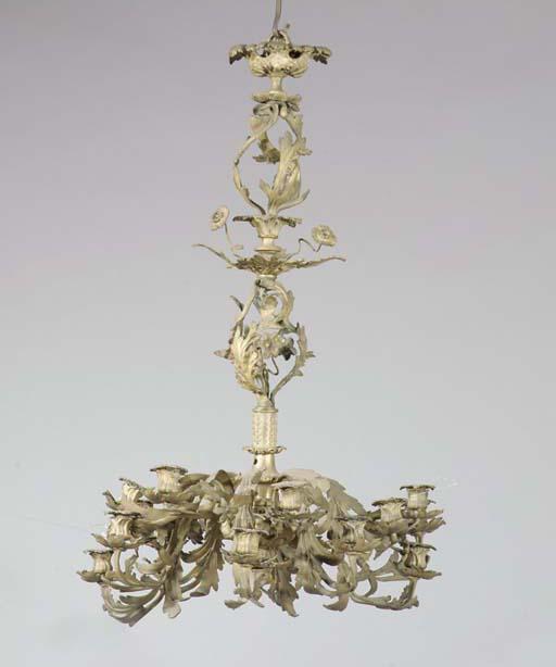 A gilt metal sixteen-light cha