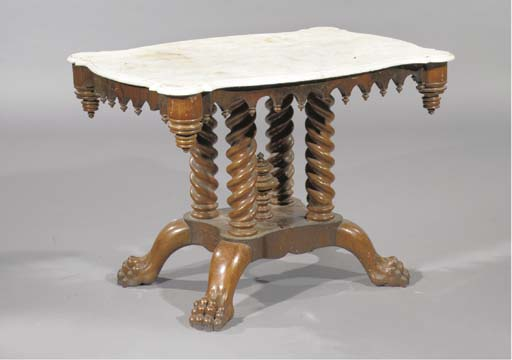 A German mahogany centre table