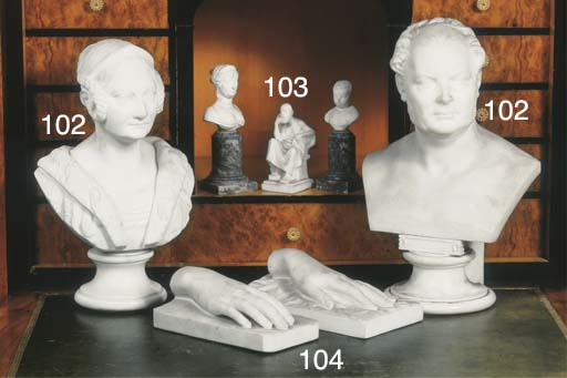 (7) A carved marble figure of