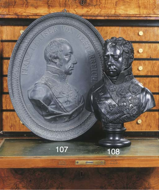 A cast iron bust of Fieldmarsh