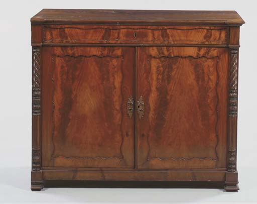 A German mahogany side cabinet