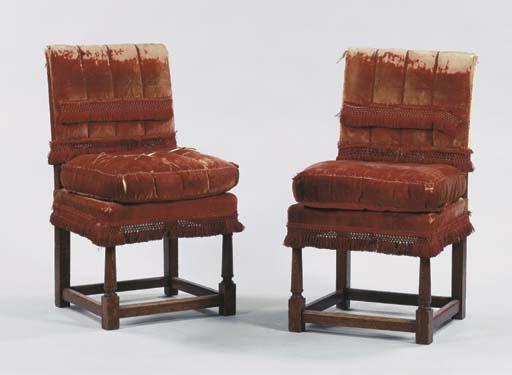 (2) A pair of German oak side